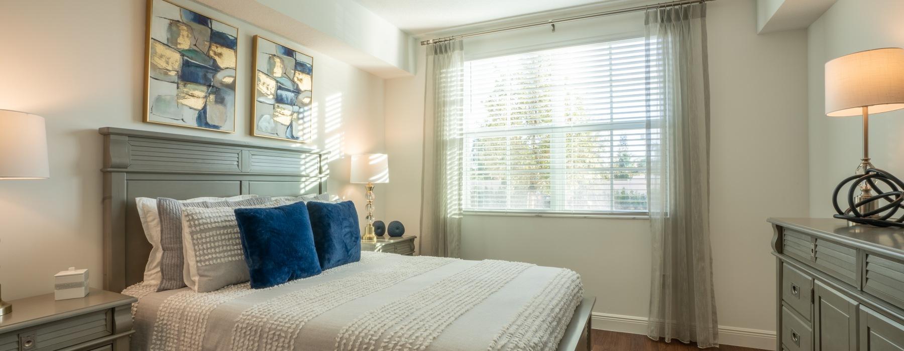 Bedroom Next to Large Window